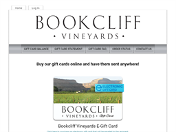 Bookcliff Vineyards gift card purchase
