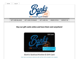 Bank's Seafood Kitchen gift card purchase