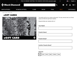 Black Diamond Equipment gift card purchase