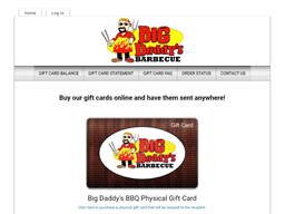 Big Daddy's BBQ gift card purchase