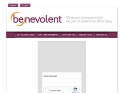 Benevolent gift card balance check