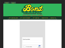 Bond Construction gift card balance check