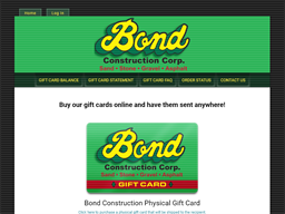 Bond Construction gift card purchase