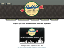 Buddy's Pizza gift card purchase