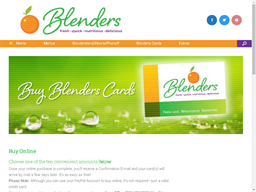 Blenders gift card purchase