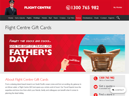 Flight Centre gift card purchase