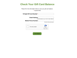 Blimpie gift card balance check