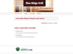 Blue Ridge Grill gift card balance check