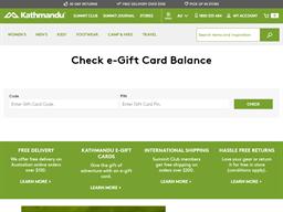 Kathmandu gift card balance check