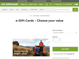 Kathmandu gift card purchase