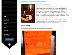 Bluwater Bistro gift card purchase