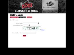 Bob's Burgers & Brew gift card balance check