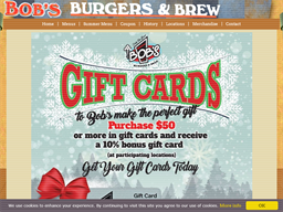 Bob's Burgers & Brew gift card purchase