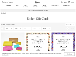 Boden USA gift card purchase