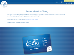 Buy Local gift card purchase