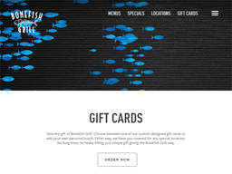 Bonefish Grill gift card purchase
