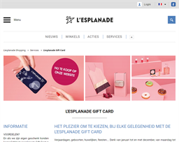 L'esplanade Shopping gift card purchase