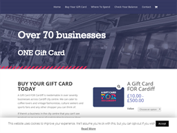 A Gift Card FOR Cardiff (without Number) gift card purchase