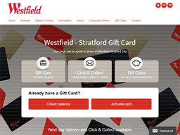 Westfield Stratford City gift card purchase