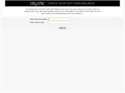 City Chic gift card balance check