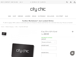 City Chic gift card purchase