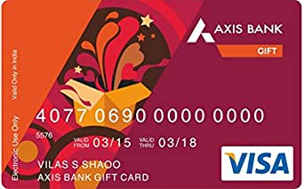 Axis Bank gift card design and art work
