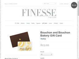 Bouchon gift card purchase