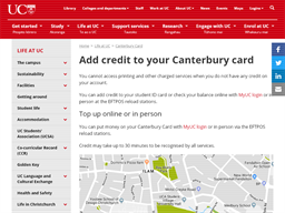 Canterbury Card University of Canterbury gift card purchase
