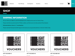 Light House Cinema gift card purchase