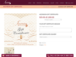 Ascension Wine Estate gift card purchase