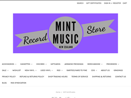 Mint Music gift card purchase