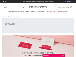 Crossroads gift card purchase