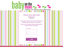 Baby On The Move gift card balance check