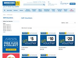 Briscoes Homeware gift card purchase