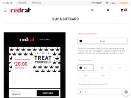 Red Rat gift card purchase