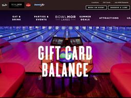Bowlmor Lanes gift card balance check