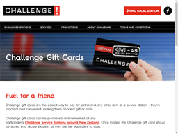 Challenge Fuel gift card purchase