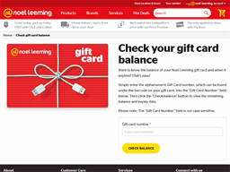 Noel Leeming gift card balance check