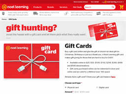Noel Leeming gift card purchase