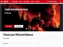 Hoyts Cinemas gift card balance check
