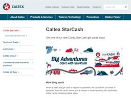 Caltex gift card purchase