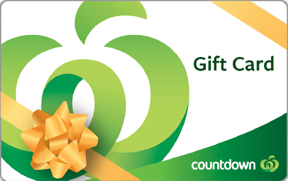 Countdown gift card design and art work