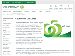Countdown gift card purchase
