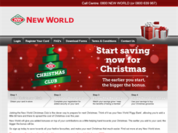 New World Christmas Club gift card balance check