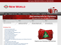 New World Christmas Club gift card purchase