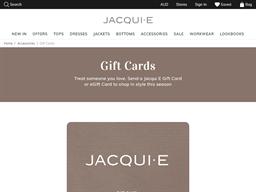 Jacqui E gift card purchase