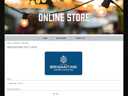 Brigantine Seafood & Oyster Bar gift card purchase