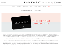 Jeanswest gift card purchase