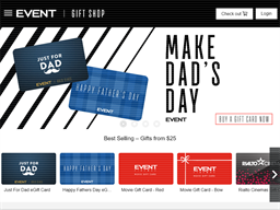 Event Cinemas gift card purchase
