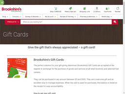 Brookshire Grocery gift card purchase